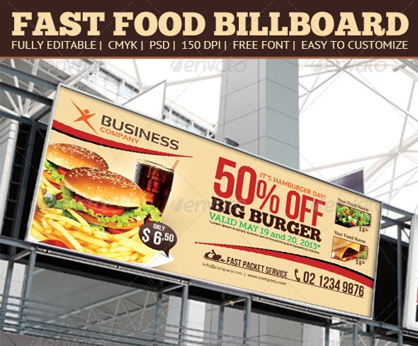 fast food billboard