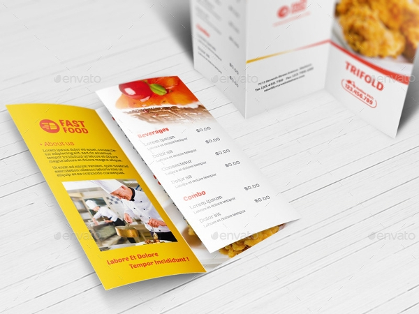 fast food brochure template example
