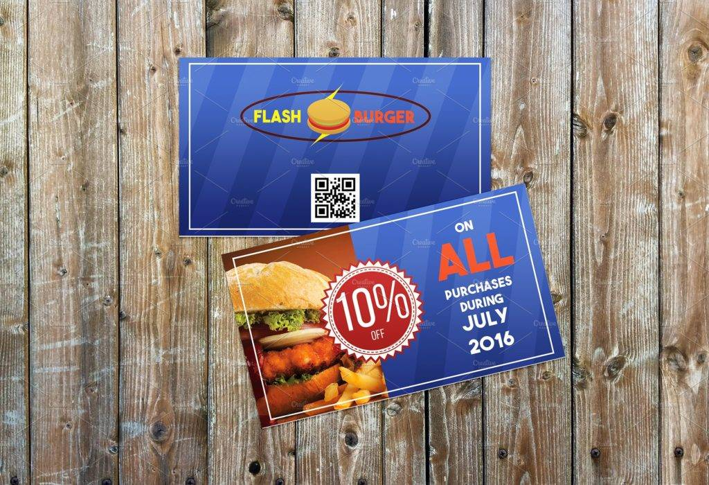 fast food meal voucher example