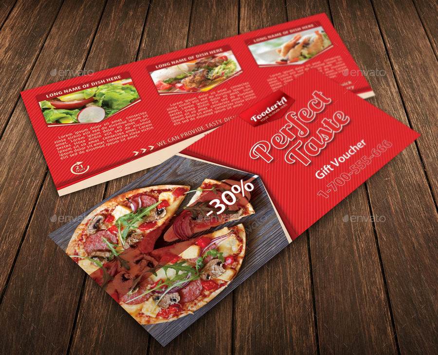 fast food order meal voucher example