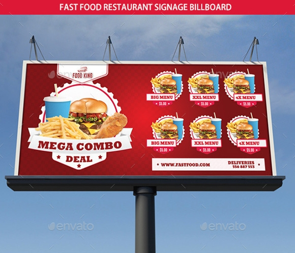 fast food restaurant signage billboard