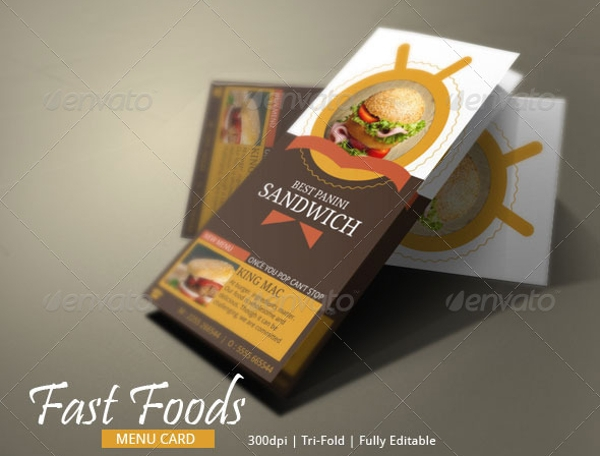 fast foods brochure design example