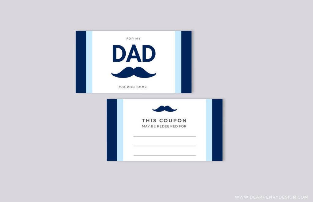 fathers day coupon book blank printable vouchers