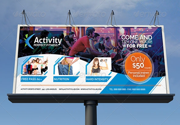 fitness and gym business signage billboard