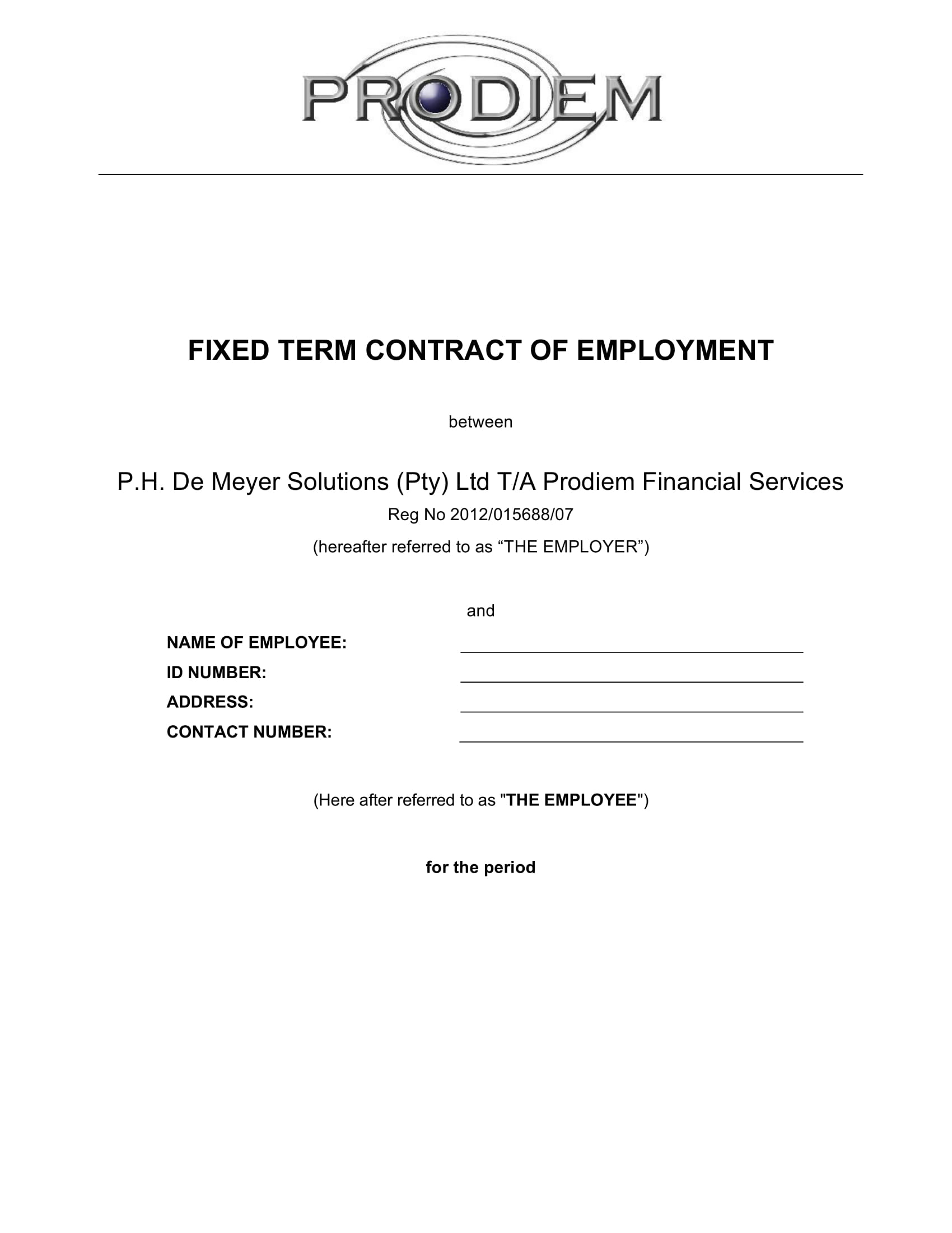 fixed term contract of employment1