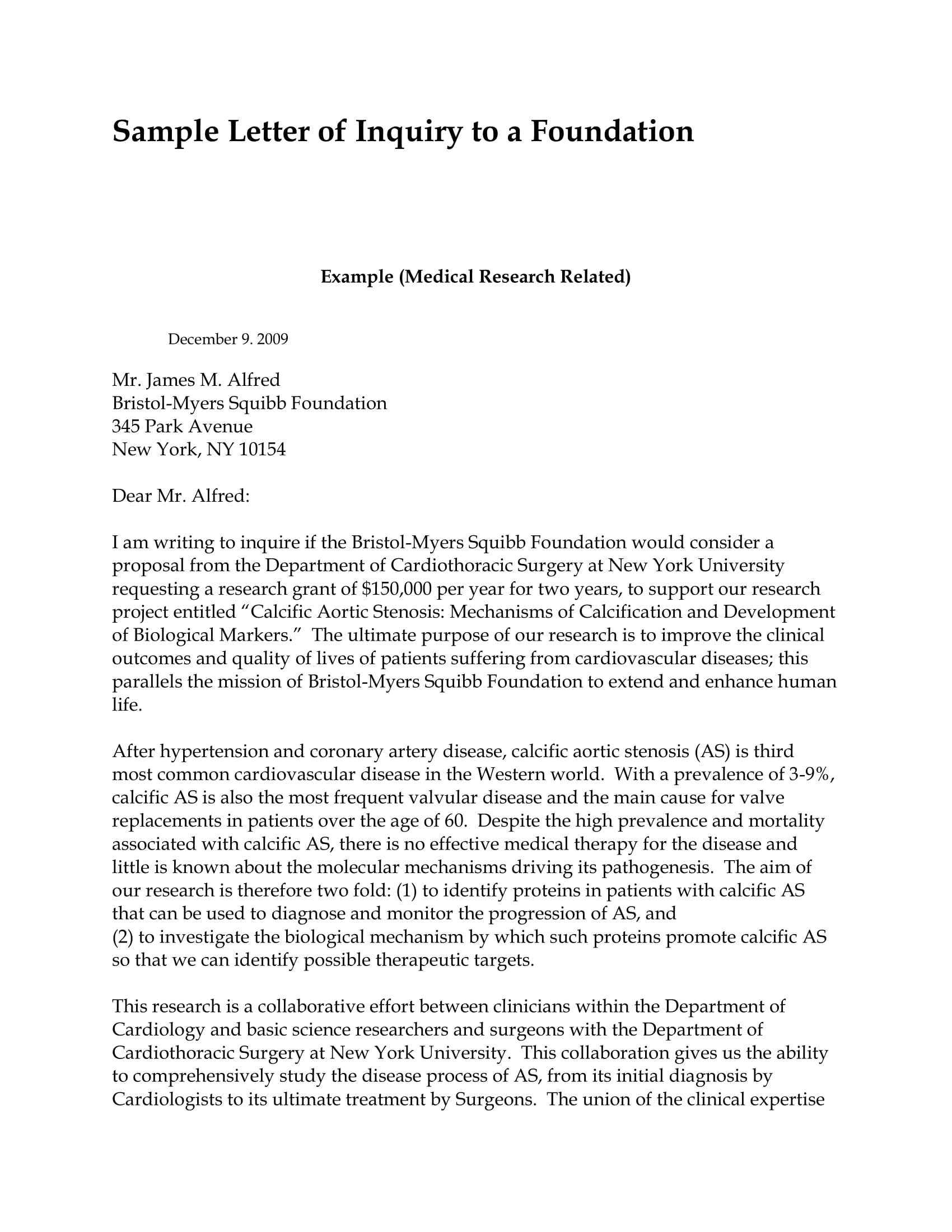 Foundation Proposal Cover Letter 2