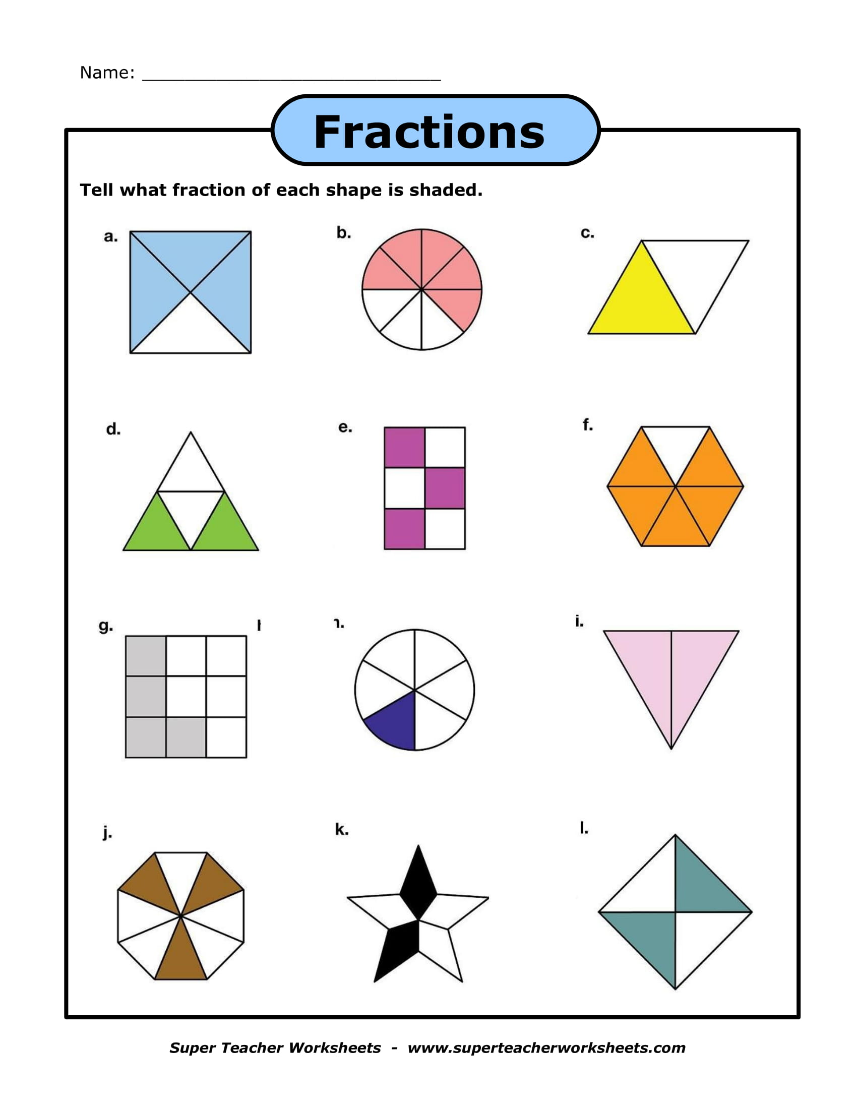 Worksheets Fraction Worksheet 9 fraction worksheets examples pdf fractions sample worksheet