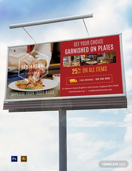 free restaurant billboard template