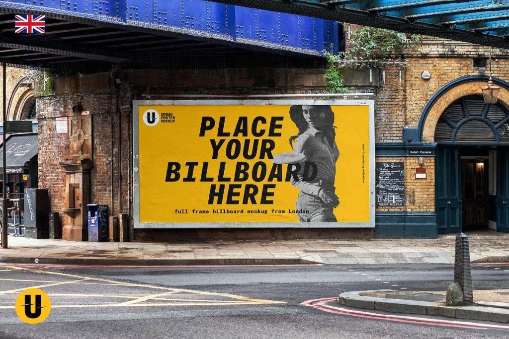 full frame billboard mockup