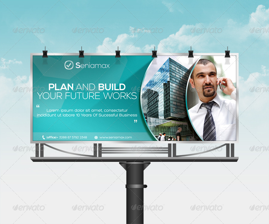 fully editable corporate billboard example