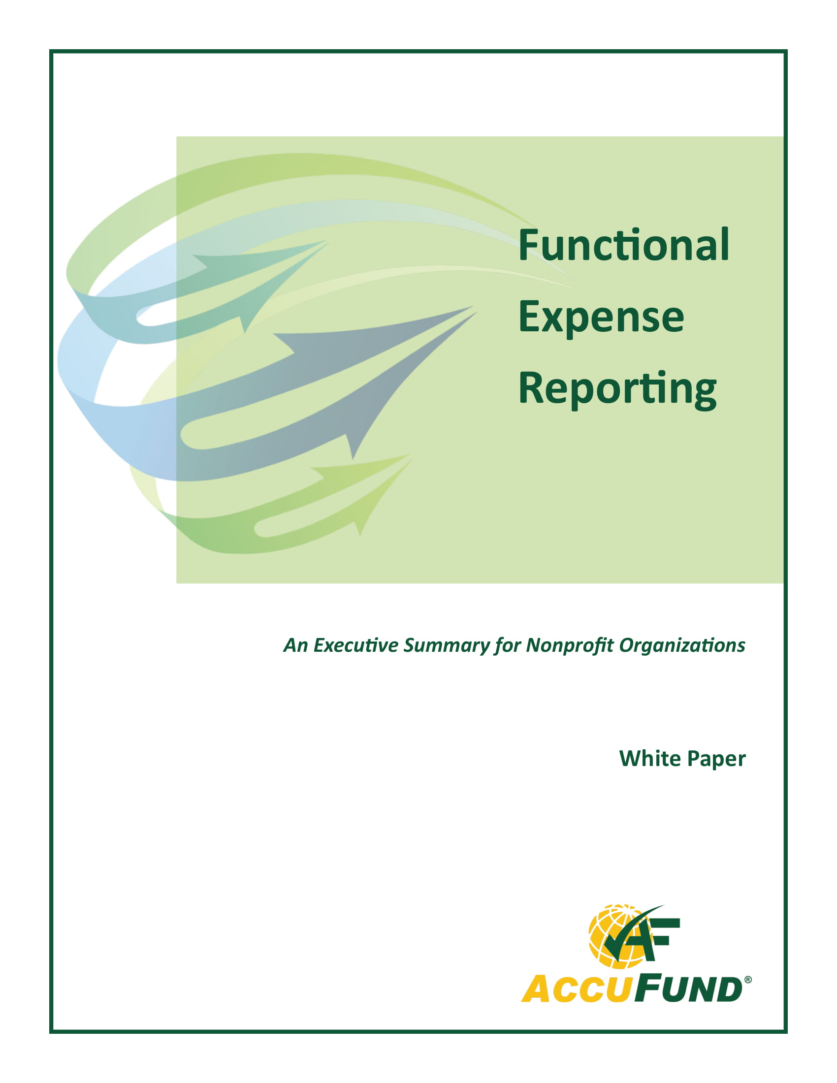 functional expense report example