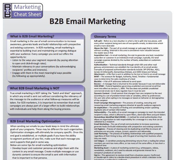 general b2b email marketing