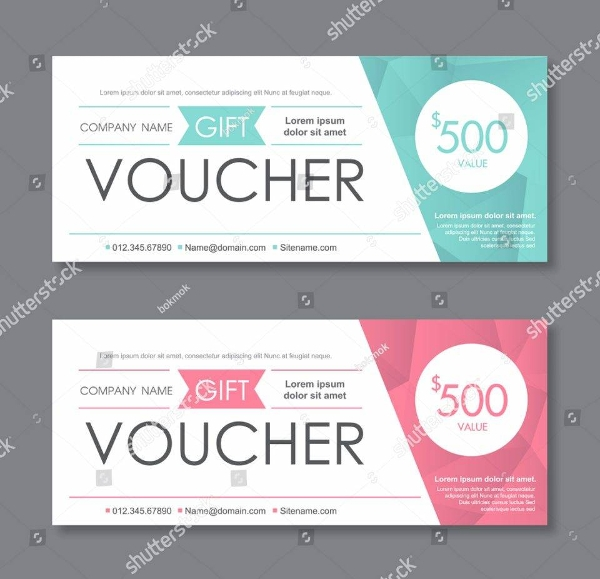 gift voucher template with clean and modern pattern