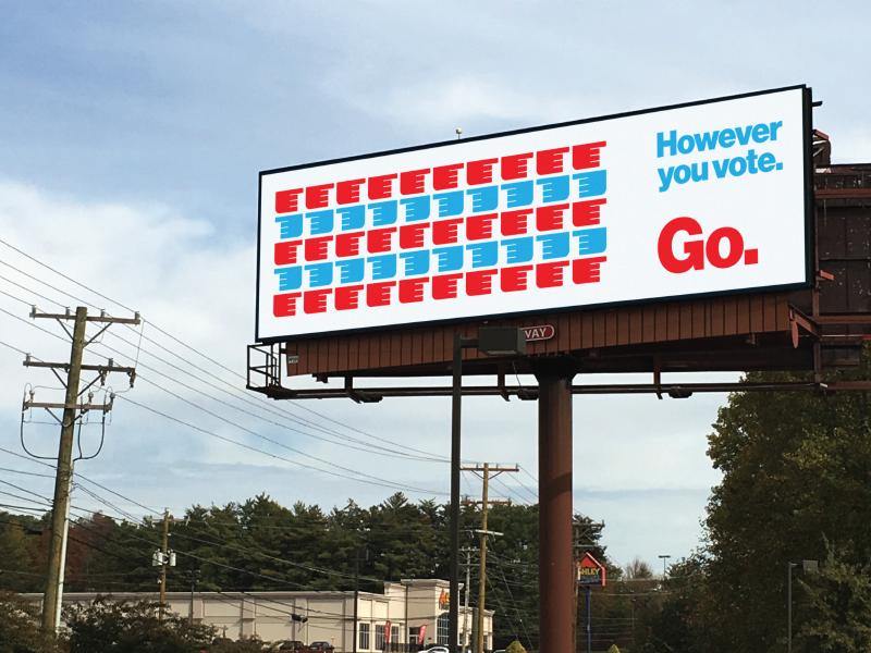 go vote digital billboard