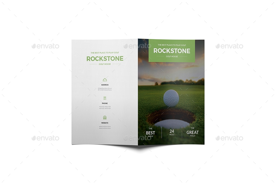 golf bifold brochure