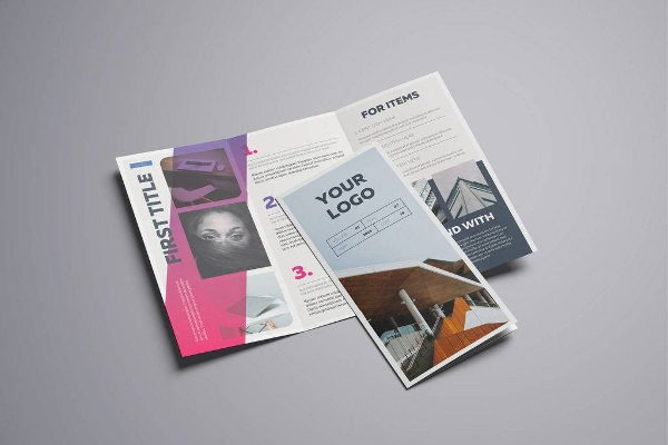 gradient a4 trifold brochure