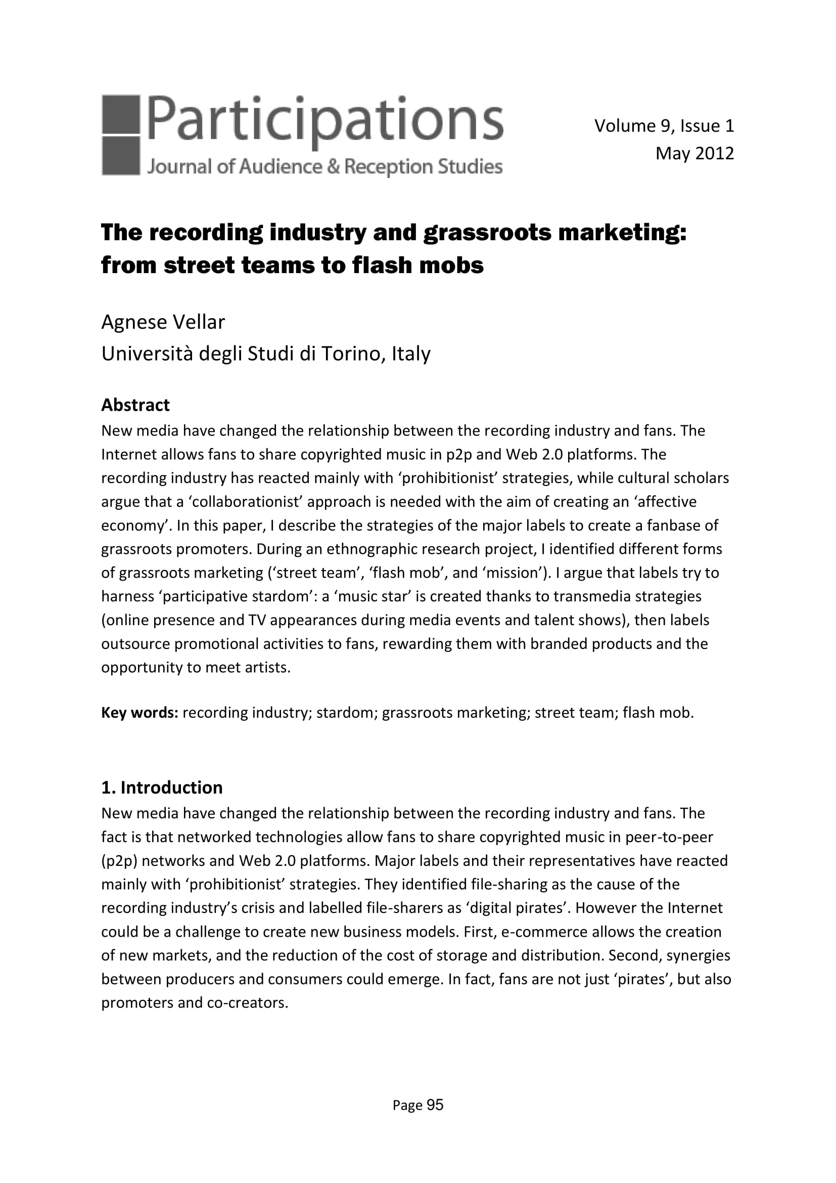 grassroots markeitng in recording industry 01