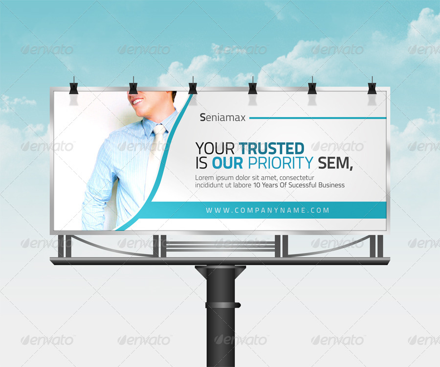 great corporate billboard template example