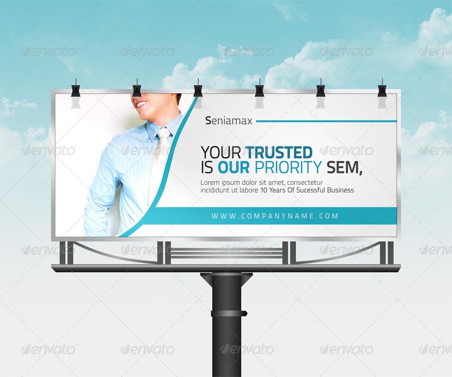 great corporate billboard template example