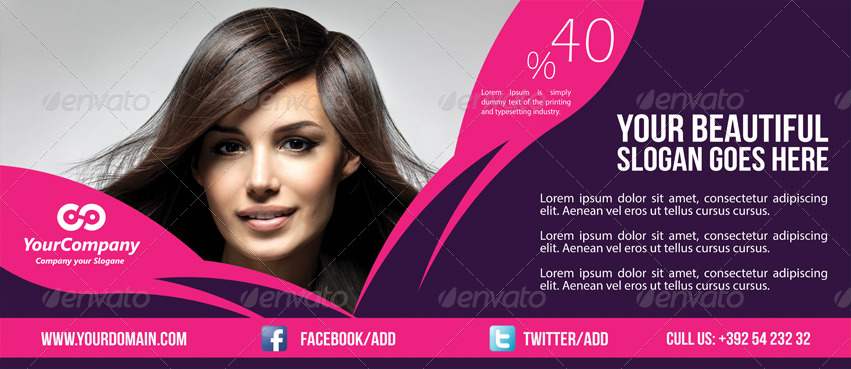 hair and beauty salon business billboard