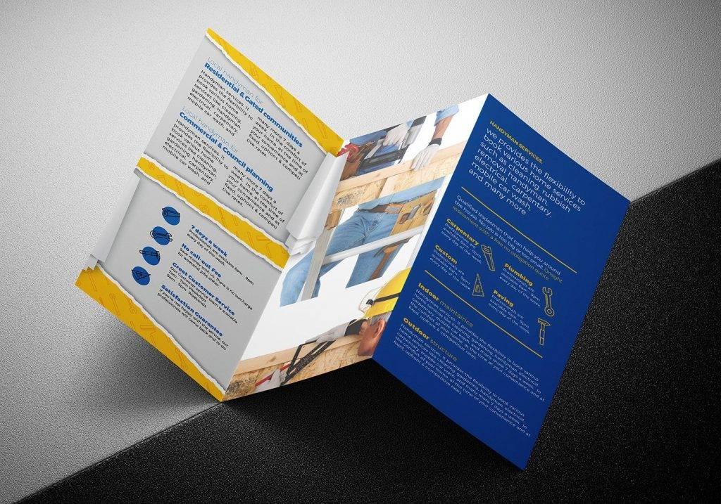 handyman tri fold brochure example