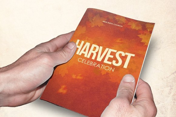 harvest church celebration brochure
