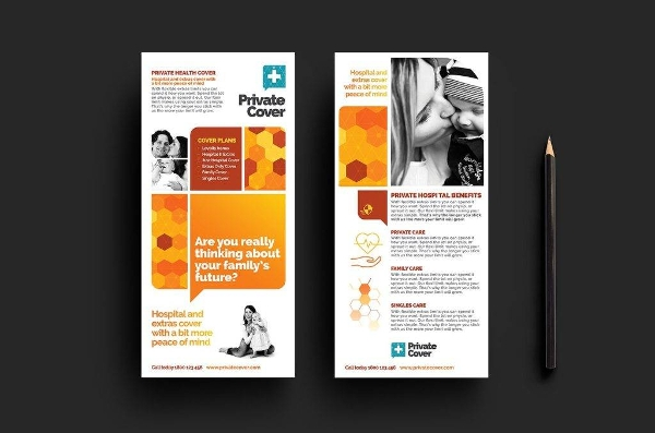 health insurance dl card and brochure template