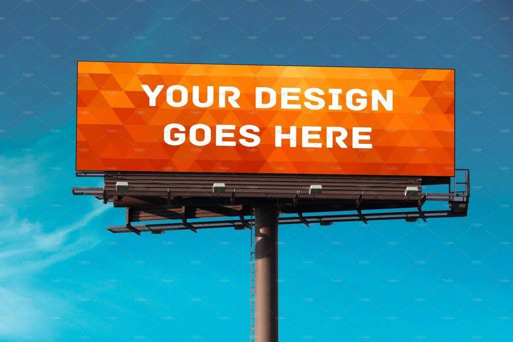high quality billboard mock up