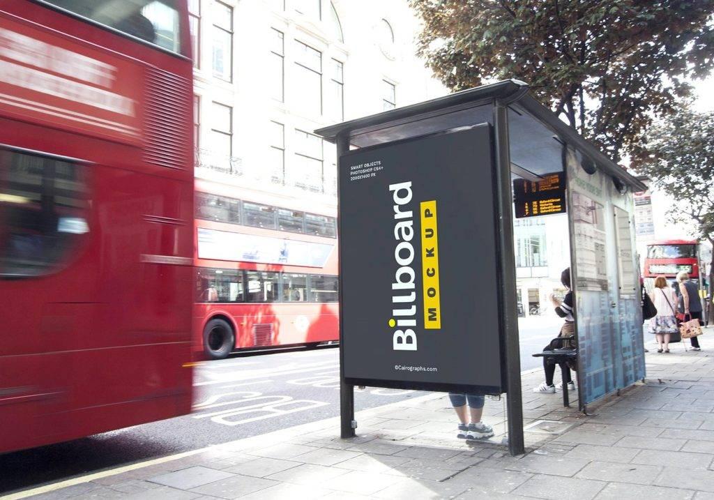 high resolution billboard mock up