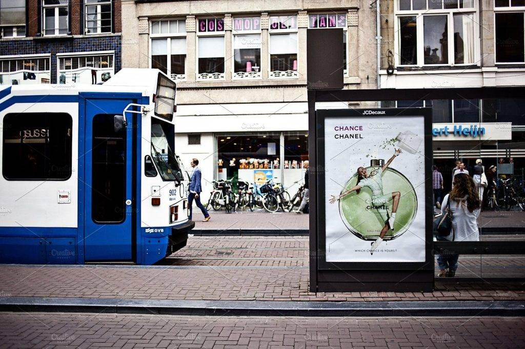 high resolution simple public transport billboard