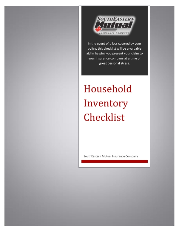 household inventory checklist example1