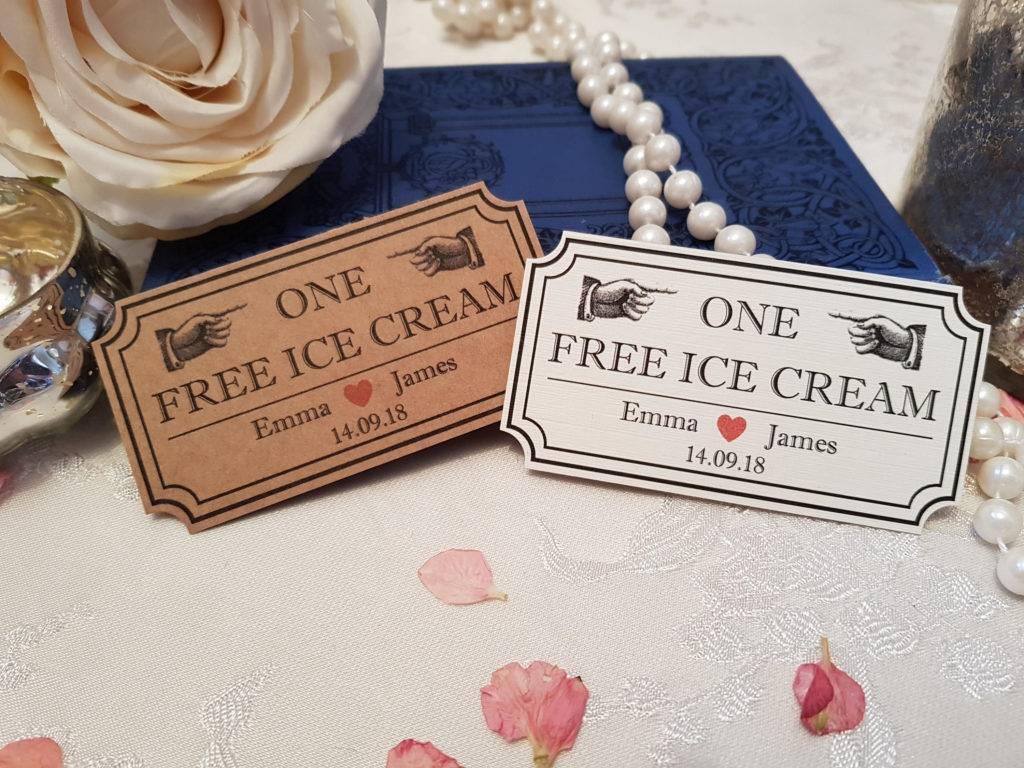 ice cream voucher example