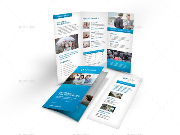 insurance company tri fold brochure