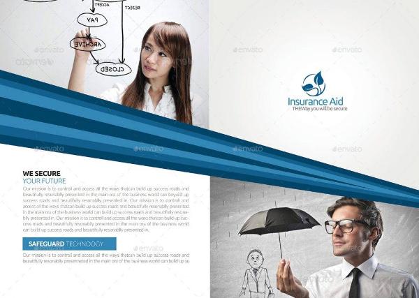 insurance corporate bi fold brochure