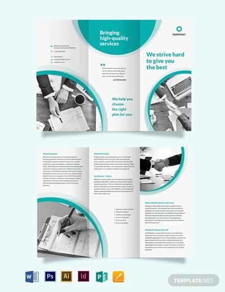 insurance tri fold brochure template