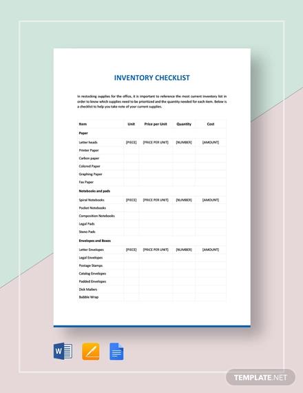 inventory checklist example2
