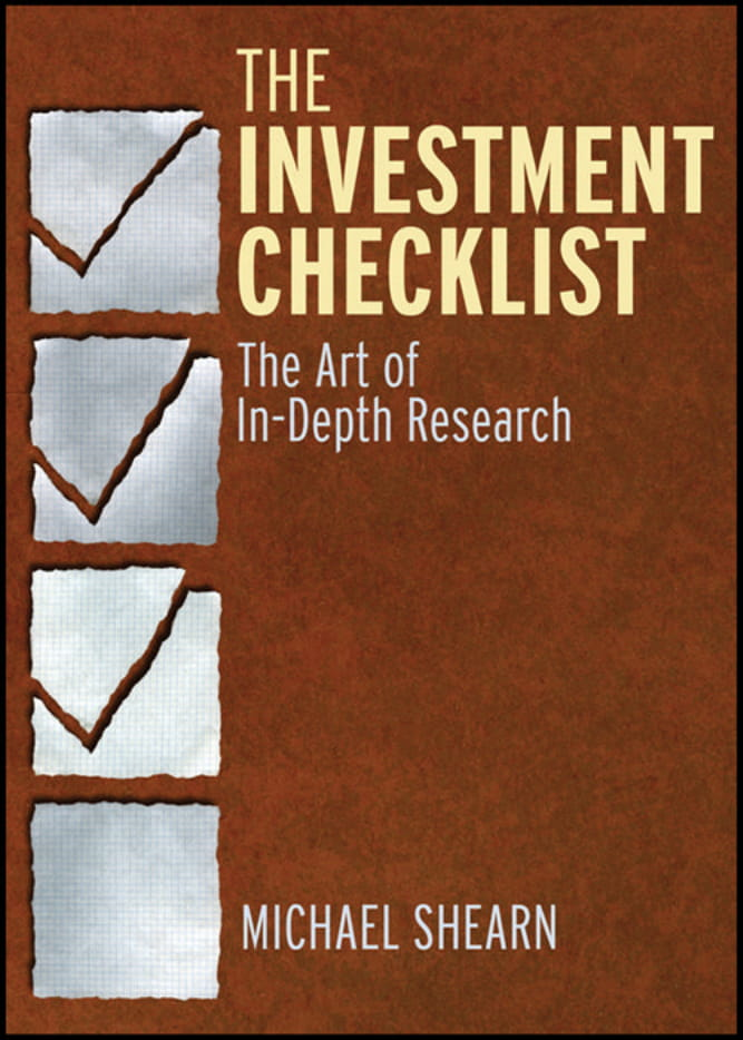 investment checklist sample