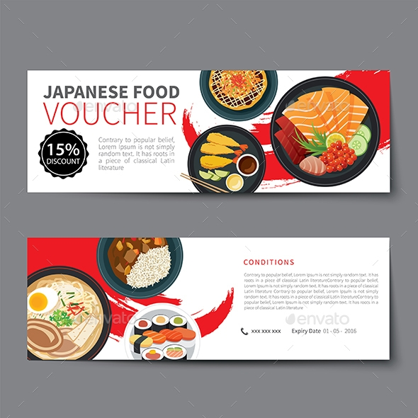 japanese food meal voucher example1