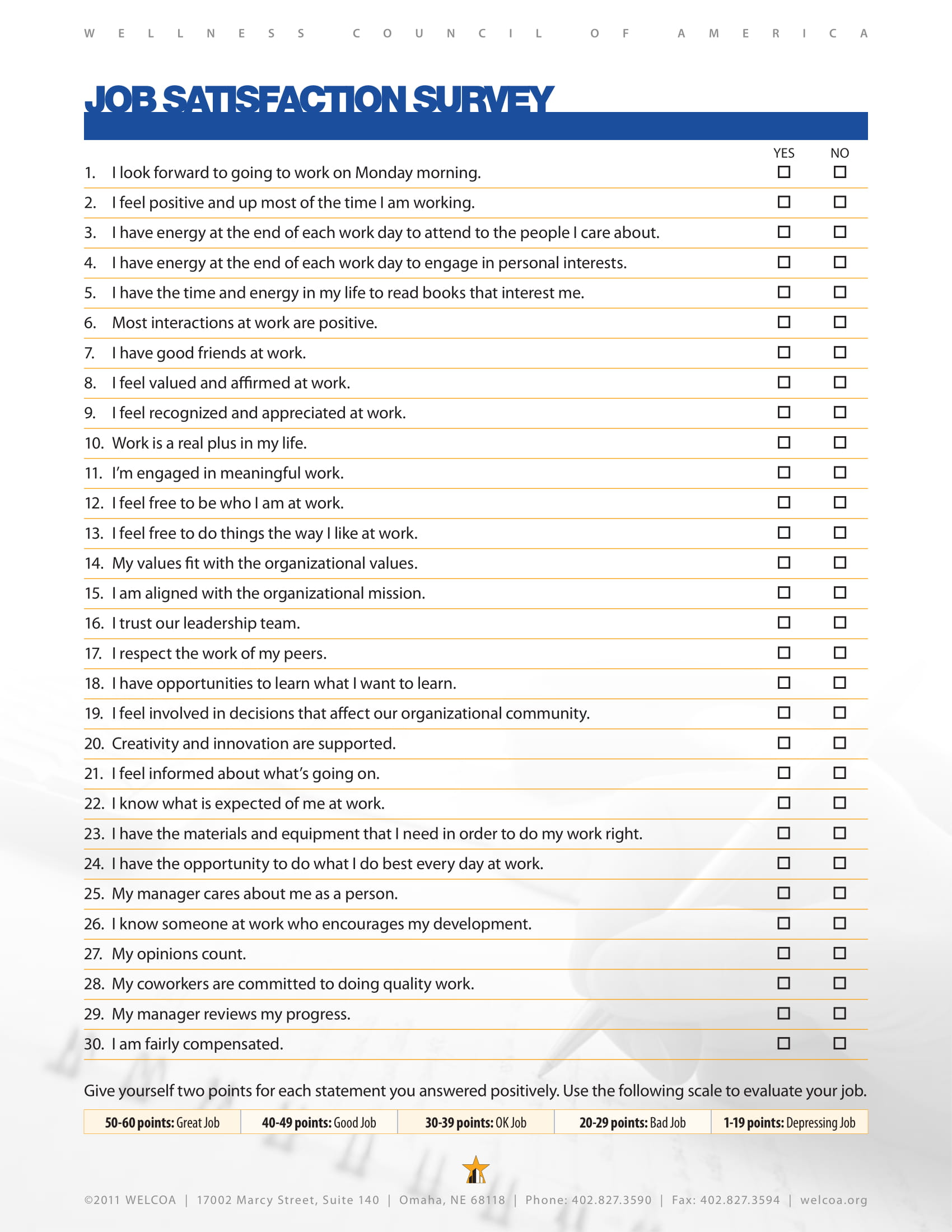 6  job satisfaction survey examples
