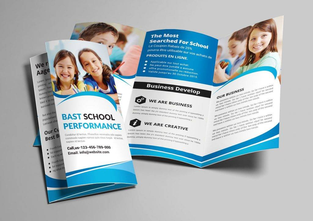 junior school trifold brochure example