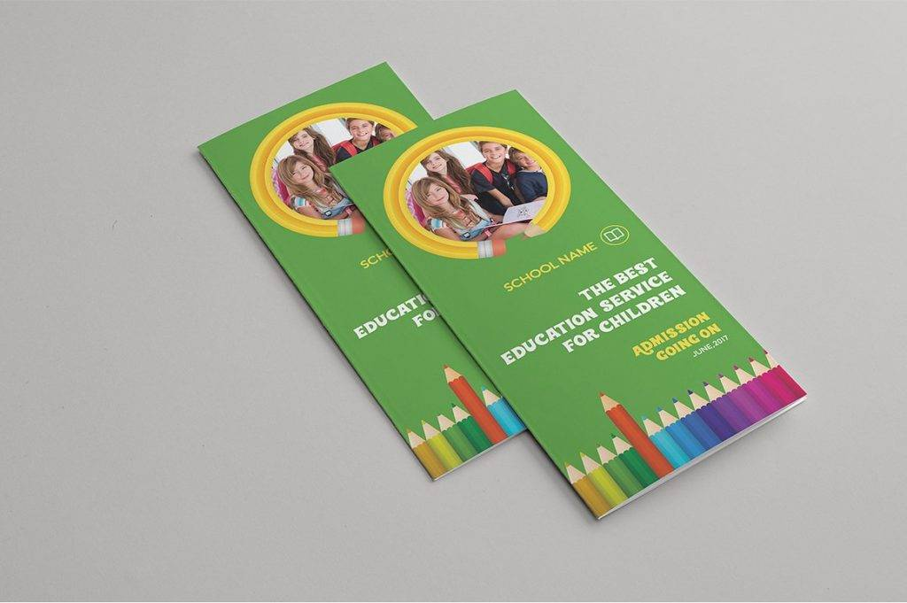 kids school trifold brochure example