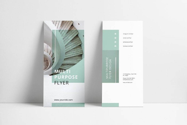 mint multipurpose tri fold brochure