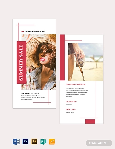 mall shopping voucher template