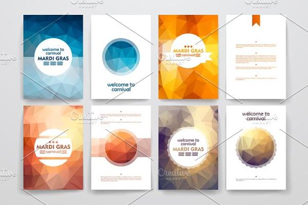 mardi gras brochure templates