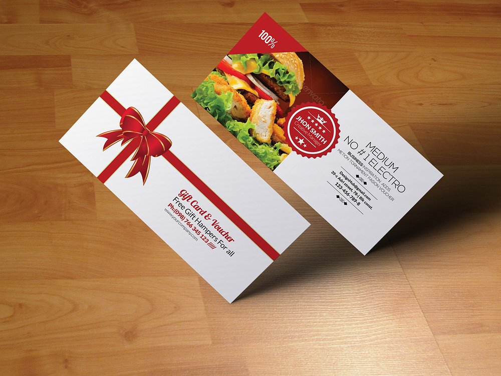 meal gift voucher example