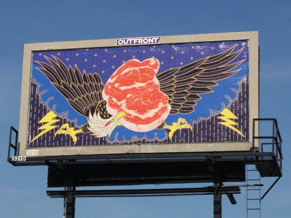 meat monkey billboard design example