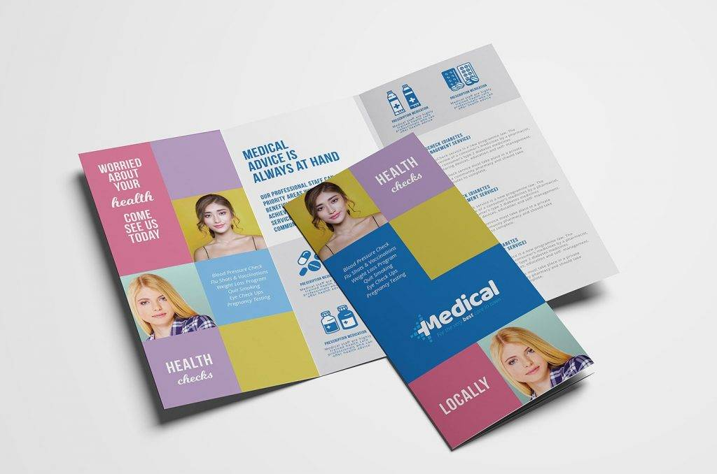 18 pharmacy brochures designs and examples psd ai for Pharmacy brochure template