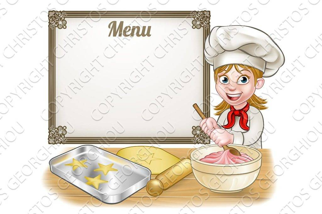 menu signage baker example
