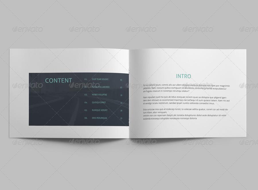 minimal a5 brochure