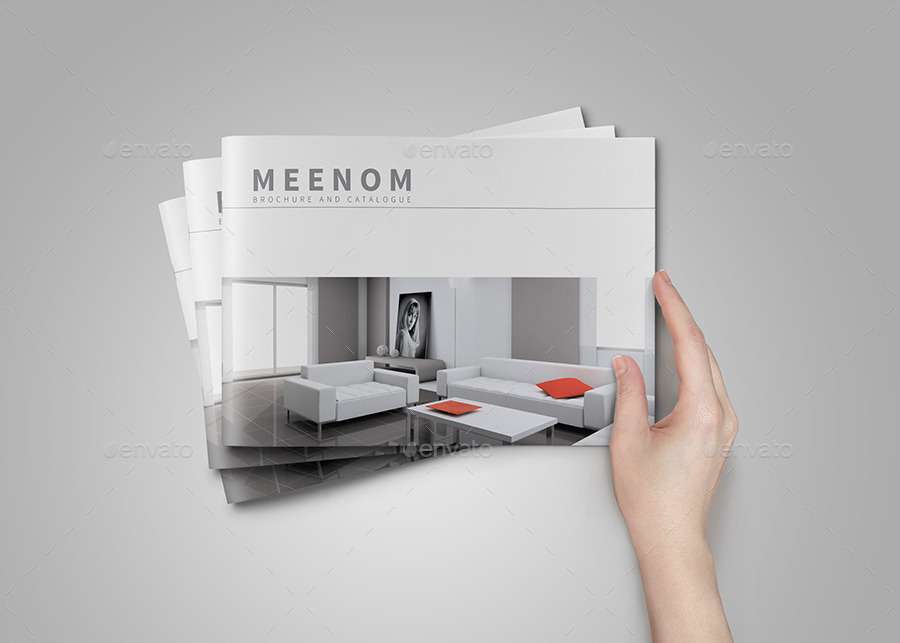 minimal brochure and catalog